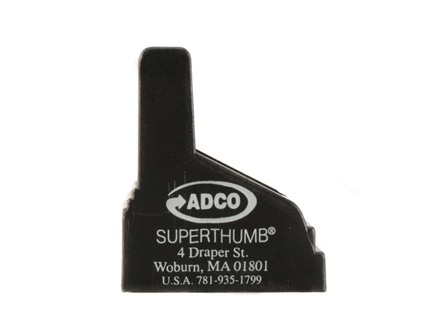ADCO Super Thumb Magazine Loader Glock, Para-Ordnance Double Stack 9mm Luger, 40 S&W, 45 ACP Polymer Black