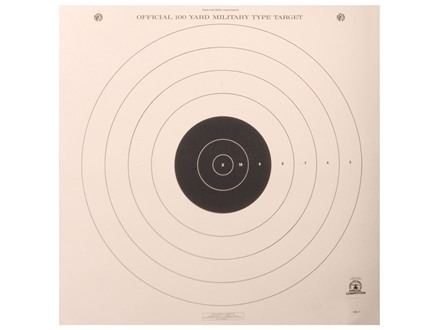 NRA Official High Power Rifle Target SR-1 100 Yard Slow and Rapid Fire Paper Package of 100