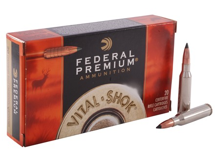 Federal Premium Vital-Shok Ammunition 7mm-08 Remington 140 Grain Trophy Copper Tipped Boat Tail Lead-Free Box of 20