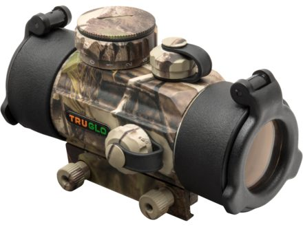 TRUGLO Red Dot Sight 30mm Tube 1x 5 MOA Dot with Integral Weaver-Style Base Realtree APG Camo