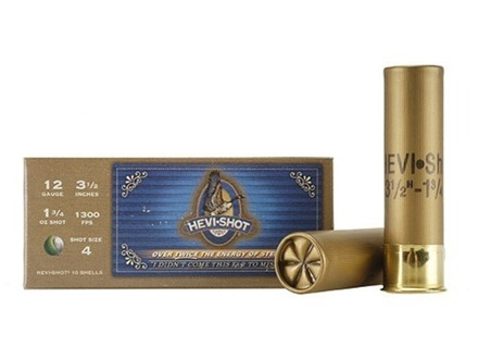 Hevi-Shot Goose Waterfowl Ammunition 12 Gauge 3-1/2&quot; 1-3/4 oz #4 Non-Toxic Shot Box of 10