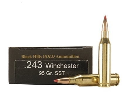 Black Hills Gold Ammunition 243 Winchester 95 Grain Hornady SST Box of 20