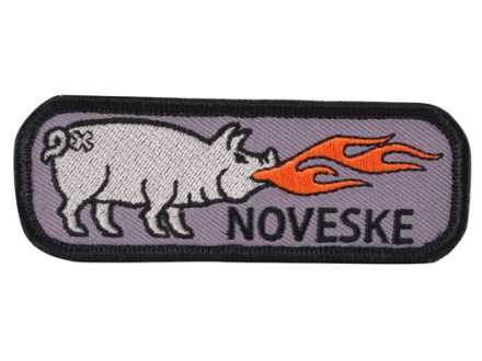 Noveske Pig Patch Hook and Loop Compatible Embroidered