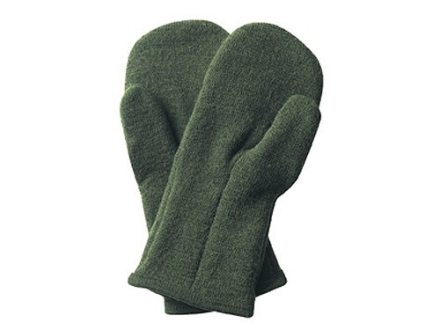 Wool Power Mitten Glove 400 Gram Insulated Wool Green Large
