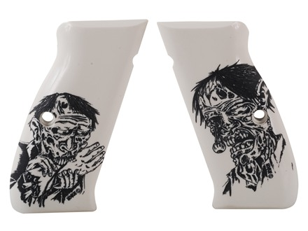 Hogue Grips CZ75 Ivory Polymer Zombie Pattern