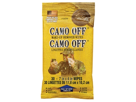 Hunter&#39;s Specialties Camo-Off Face Paint Removal Wipes Pack of 30