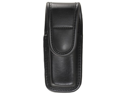 Bianchi 7903 Single Magazine Pouch or Knife Sheath Beretta 92, 96, Browning Hi-Power, Sig Sauer P226, P228, P229 Hidden Snap Trilaminate Black