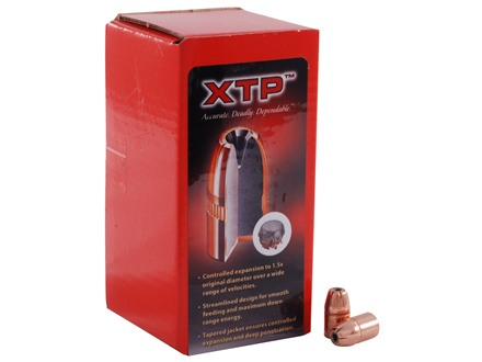 Hornady XTP Bullets 38 Caliber (357 Diameter) 158 Grain Jacketed Flat Nose Box of 100
