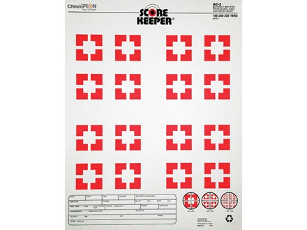 "Champion Score Keeper AC3 Sight-In Target 14"" x 18"" Paper Orange Bull Package of 12"
