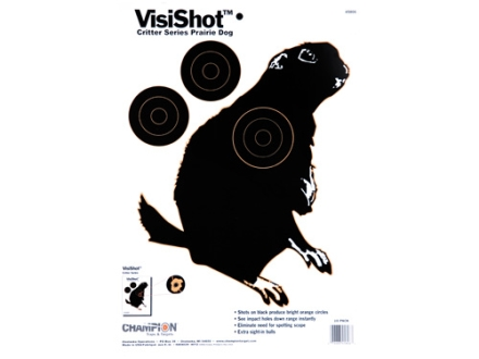 Champion VisiShot Critter Series Prairie Dog Target 11&quot; x 16&quot; Paper Package of 10