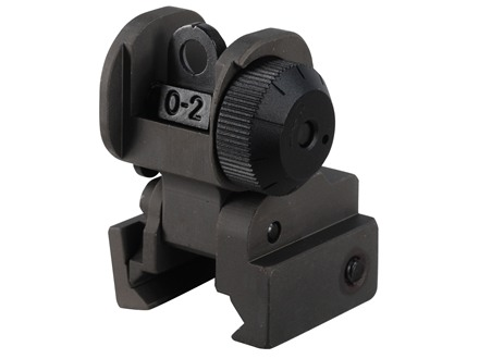 Midwest Industries Flip-Up Rear Sight AR-15 Flat-Top Aluminum OD Green