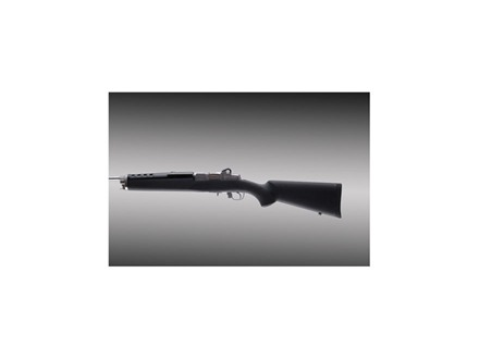 Hogue OverMolded Rifle Stock Ruger Mini-14, Mini-30 Pillar Bed Rubber Black