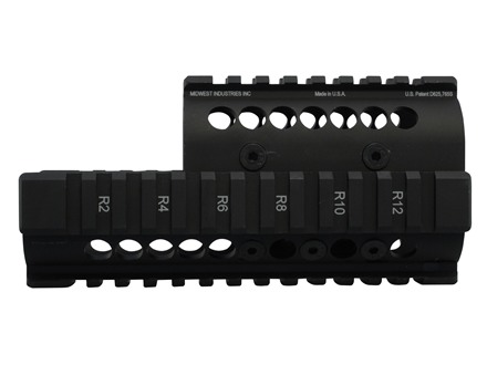 Midwest Industries 2-Piece Handguard Quad Rail AK-47, AK-74 Aluminum