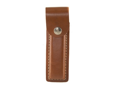 Hunter Belt Magazine Pouch for 22 Long Rifle Magazines Leather Brown