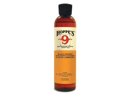 Hoppe's #9 Plus Black Powder Bore Cleaning Solvent and Patch Lubricant 8 oz Liquid