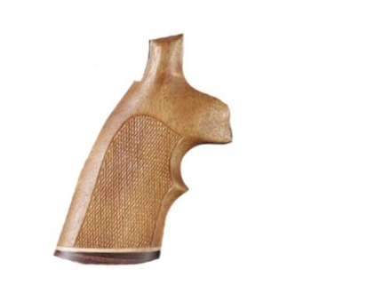 Hogue Fancy Hardwood Grips with Accent Stripe and Top Finger Groove Dan Wesson Large Frame Checkered Goncalo Alves