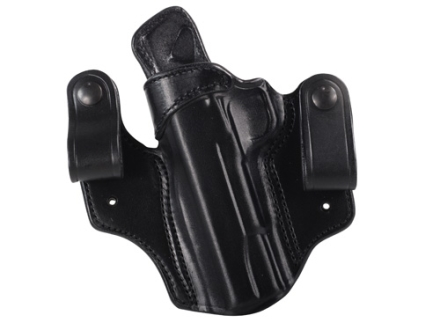 DeSantis Mad Max Tuckable Inside the Waistband Holster Left Hand 1911 Government, Commander Leather Black