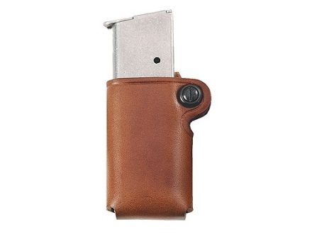 Galco Single Magazine Pouch 45 ACP, 10mm Single Stack Magazines Leather Tan
