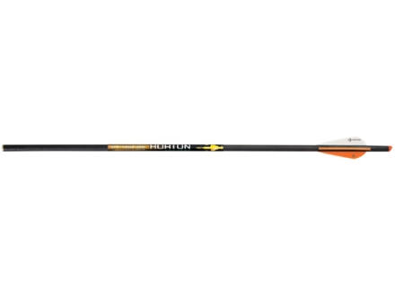 Horton Lightning Strike 20&quot; Carbon Crossbow Bolt with Lighted Arrow Nock and 3&quot; Vanes Black Pack of 3