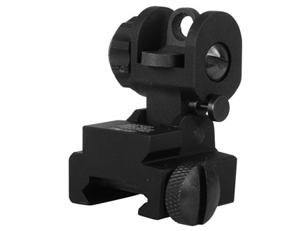ProMag Flip-Up Rear Sight AR-15 Flat-Top Aluminum Matte
