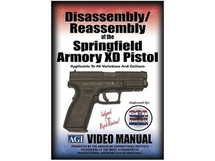 "American Gunsmithing Institute (AGI) Disassembly and Reassembly Course Video ""Springfield Armory XD Pistols"" DVD"