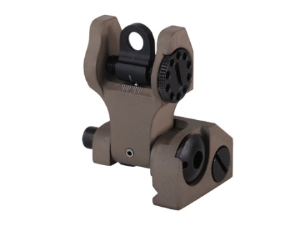 Troy Industries Rear Flip-Up Battle Sight AR-15 Flat-Top Aluminum Flat Dark Earth