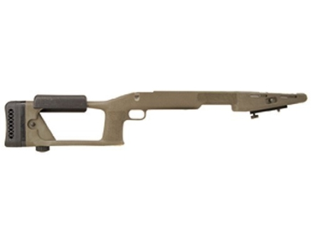 "Choate Ultimate Sniper Rifle Stock Savage 10 Series Short Action Staggered Feed with 4.275"" Screw Spacing Blind Magazine 1.25"" Barrel Channel Synthetic Olive Drab"