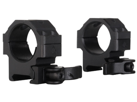 Leapers UTG 30mm Max Strength Tactical 4-Hole Quick Detachable Picatinny-Style Rings Matte Low