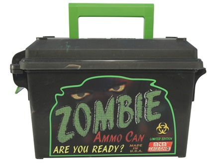 MTM Limited Edition Zombie Ammo Can Tall 30 Caliber Plastic Black