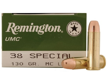 Remington UMC Ammunition 38 Special 130 Grain Full Metal Jacket