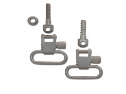 GrovTec Sling Swivel Studs with 1&quot; Locking Swivels Set with Machine Screw Forend Satin Nickel Plated
