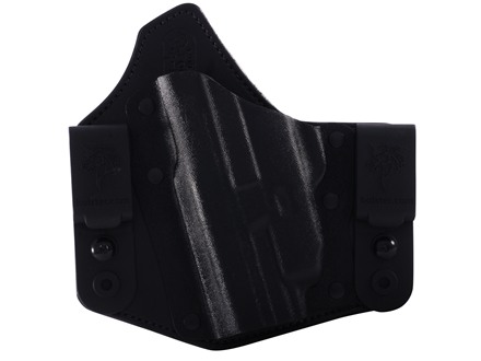DeSantis Intruder Inside the Waistband Holster Left Hand Smith &amp; Wesson M&amp;P 9mm, 40 S&amp;W with Crimson Trace CRM201 Kydex and Leather Black