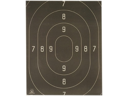 NRA Official Action Pistol Target Repair Center B-18C 50 Yard Rapid Fire Paper Package of 100