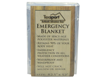 Texsport Polarshield Emergency Survival Blanket Polarshield 82&quot; x 50&quot;
