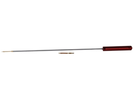 "Pro-Shot Premium 1-Piece Micro-Polished Cleaning Rod 17 Caliber 12"" Stainless Steel 5 x 40 Thread with Jag and Bore Brush"