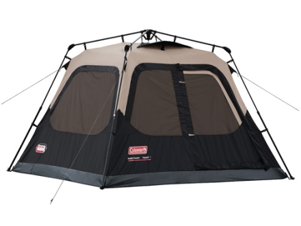 "Coleman Instant 4 Man Cabin Tent 96"" x 84"" x 59"" Polyester Black and Tan"