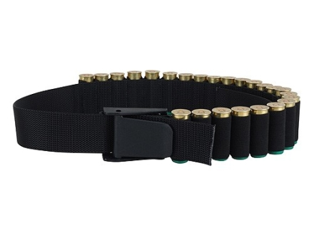 Uncle Mike&#39;s Shotshell Ammunition Carrier Belt Adjustable 25-Round Nylon Black