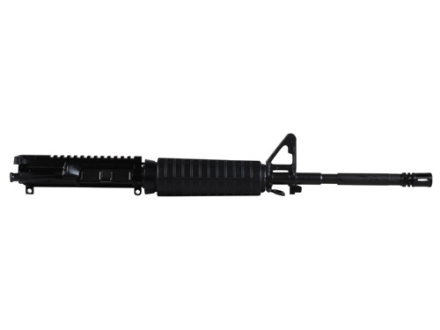 "Del-Ton AR-15 A3 Flat-Top Upper Assembly 5.56x45mm NATO 1 in 9"" Twist 16"" M4 Contour Barrel Chrome Moly Matte with CAR-Style Handguard, Flash Hider"