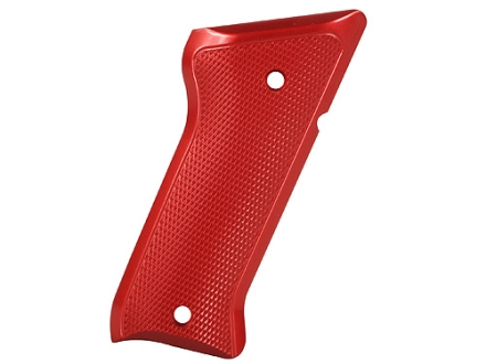 Tactical Solutions Performance Grips Ruger Mark II, Mark III Checkered Aluminum Red