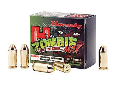 Hornady Zombie Max Ammunition 40 S&amp;W 165 Grain Z-Max Flex Tip eXpanding Box of 20