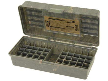 "MTM Shotshell Box with Handle 2-3/4"", 3"" 50-Round Plastic Camo"