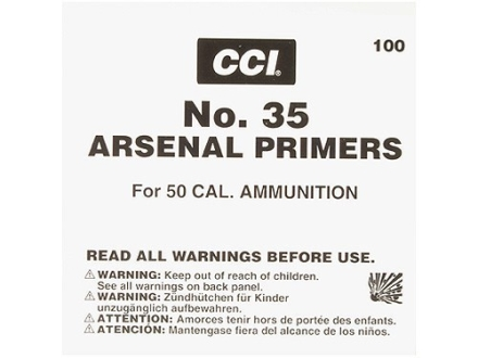 CCI 50 BMG Primers #35 Case of 2500 (5 Boxes of 500)