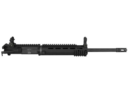 "Yankee Hill AR-15 Smooth Carbine Upper Assembly 6.8mm Remington SPC 1 in 10"" Twist 16"" Fluted Barrel Chrome Lined with Smooth Rail Free Float Handguard, Flip-Up Sights, Flash Hider"