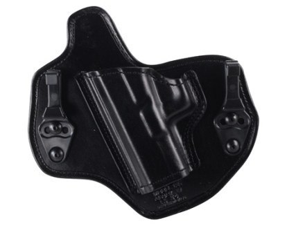 Bianchi Allusion Series 135 Suppression Tuckable Inside the Waistband Holster Left Hand Glock 17, 22, 31 Leather Black