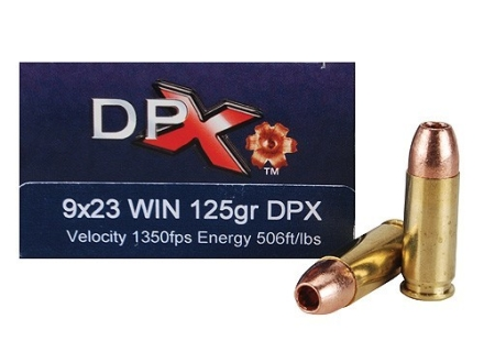 Cor-Bon DPX Ammunition 9x23mm Winchester 125 Grain Barnes XPB Hollow Point Lead-Free Box of 20