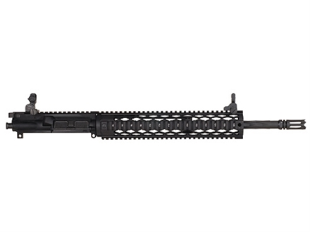 "Yankee Hill AR-15 Specter XL Black Diamond Upper Assembly 5.56x45mm NATO 1 in 7"" Twist 16"" Fluted Barrel with 12.5"" Diamond Quad Rail Free Float Handguard, Flip-Up Sights, Flash Hider"