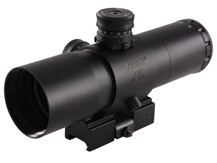 Vism CQB Prismatic Rifle Scope 30mm Tube 3x 42mm Mil-Dot Reticle with Quick Release Picatinny-Style Mount Matte