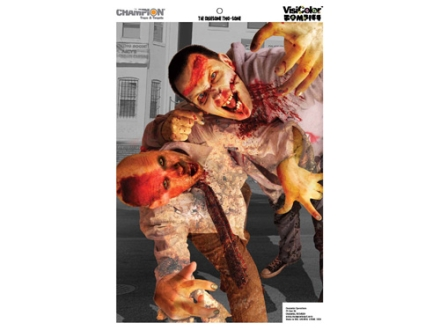 Champion Zombie Gruesome Two-Some Target 24&quot; x 45&quot; Paper Package of 10