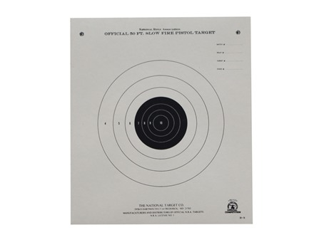 NRA Official Pistol Target B-2 50' Slow Fire Paper Package of 100