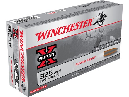 Winchester Super-X Ammunition 325 Winchester Short Magnum (WSM) 220 Grain Power-Point Box of 20